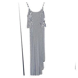 Mossimo Striped Maxi Dress large
